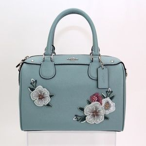 Coach Leather Floral Embroidery Mini Bennett Bag